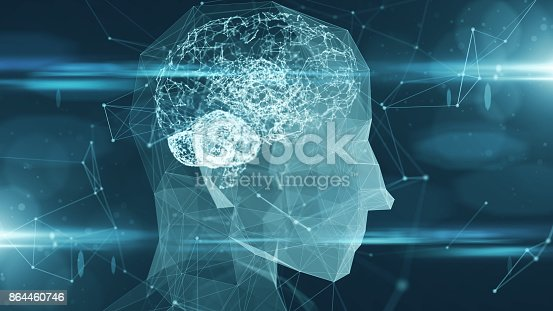 864460734istockphoto Virtual mind of a digital learning AI artificial intelligence robot 864460746