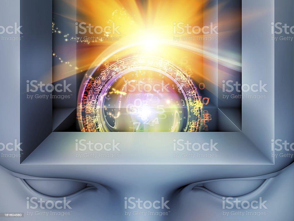 Virtual Mind royalty-free stock photo