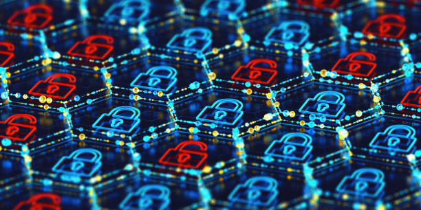 Virtual Network Security stock photo