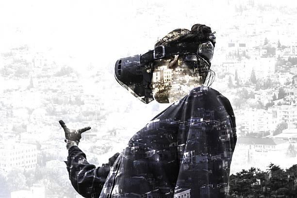 virtual reality city simulation - spiel des wissens stock-fotos und bilder