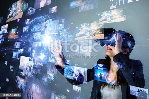 Virtual reality concept.