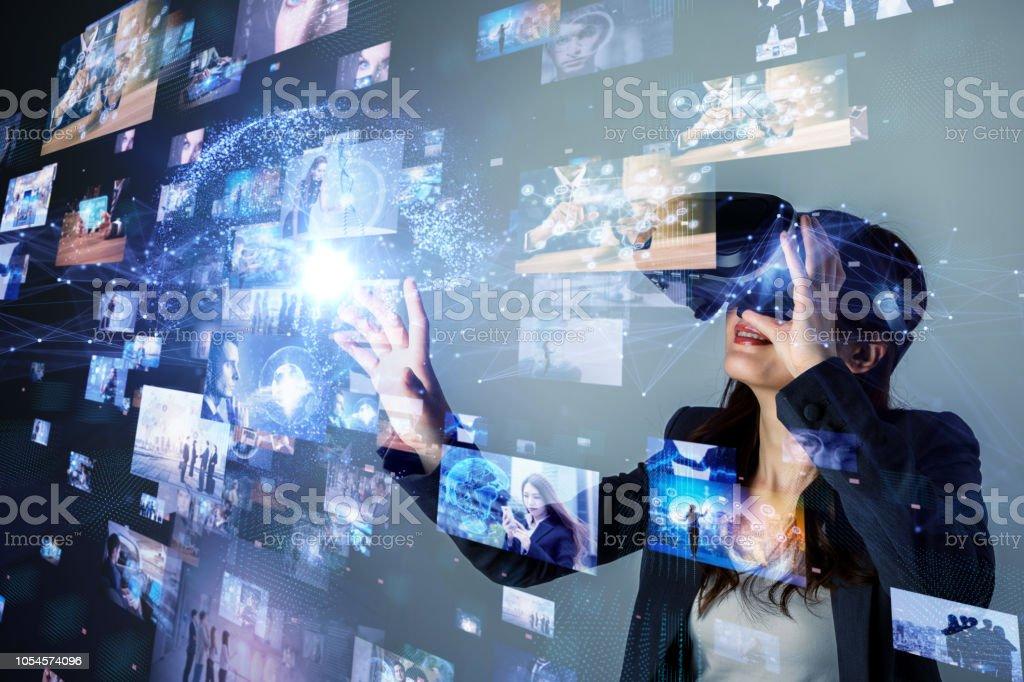 Concepto de realidad virtual. - foto de stock