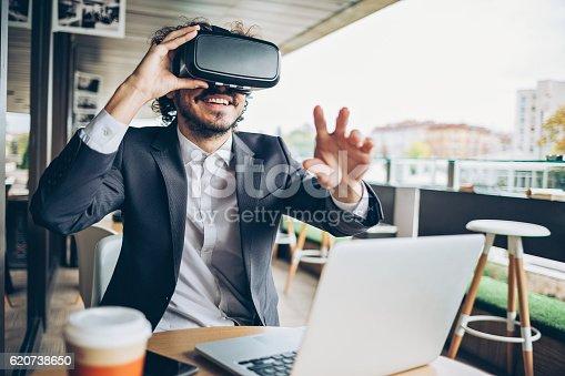 istock Virtual reality entertainment 620738650