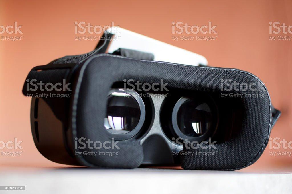 Virtual reality gaming headset stock photo