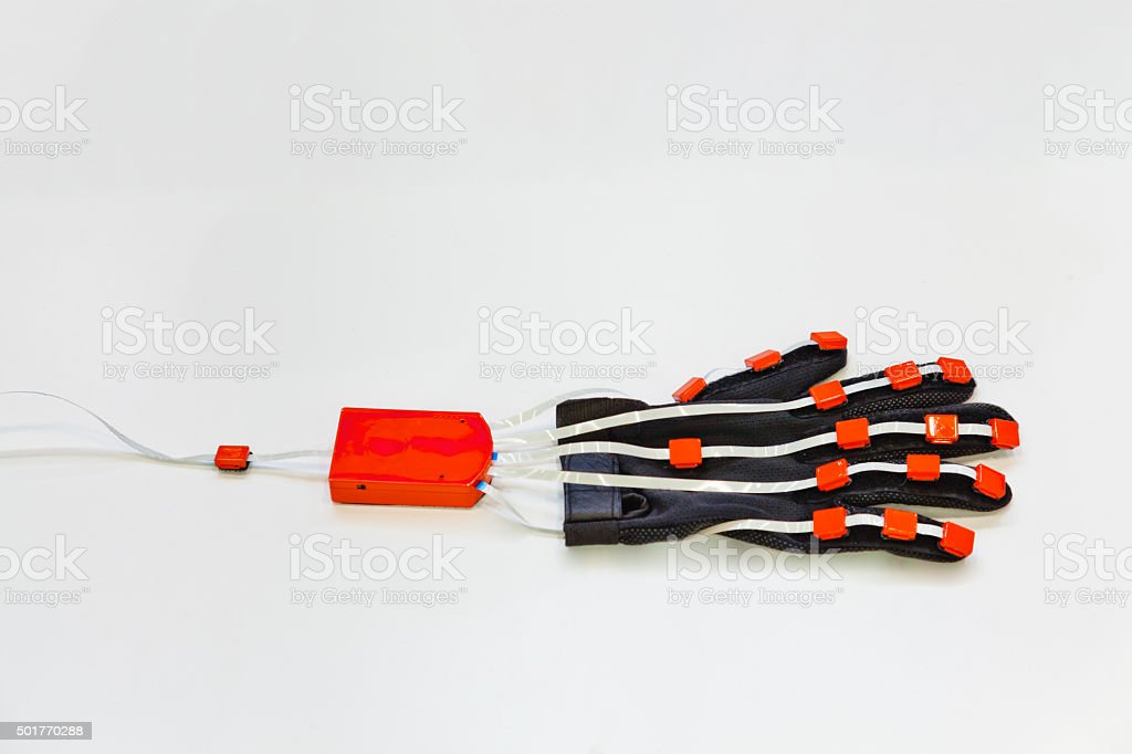 Virtual reality glove stock photo