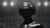 istock Virtual reality goggles and futuristic man 524534704