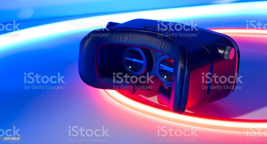 VR virtual reality headset future gaming stock photo