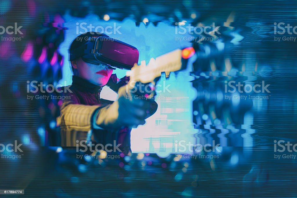Virtual Reality Headset stock photo