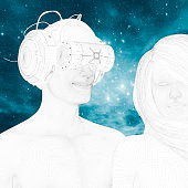 istock Virtual reality love experience 526718558
