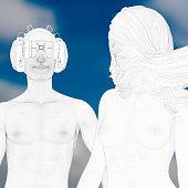 istock Virtual reality love experience 526718828