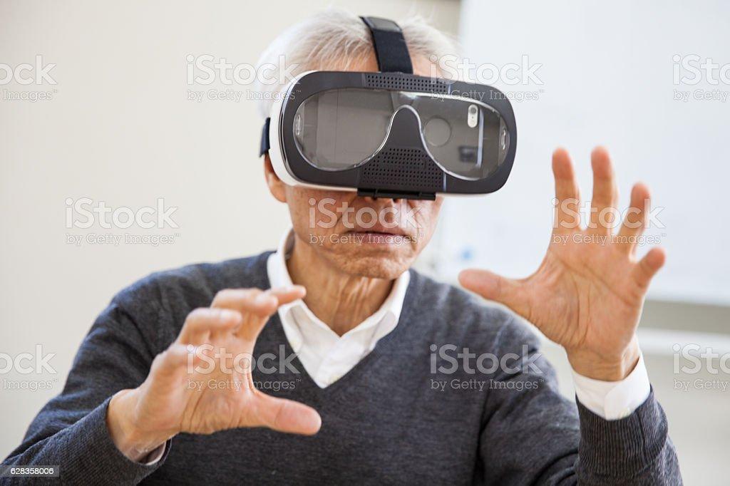 Virtual Reality Meeting stock photo