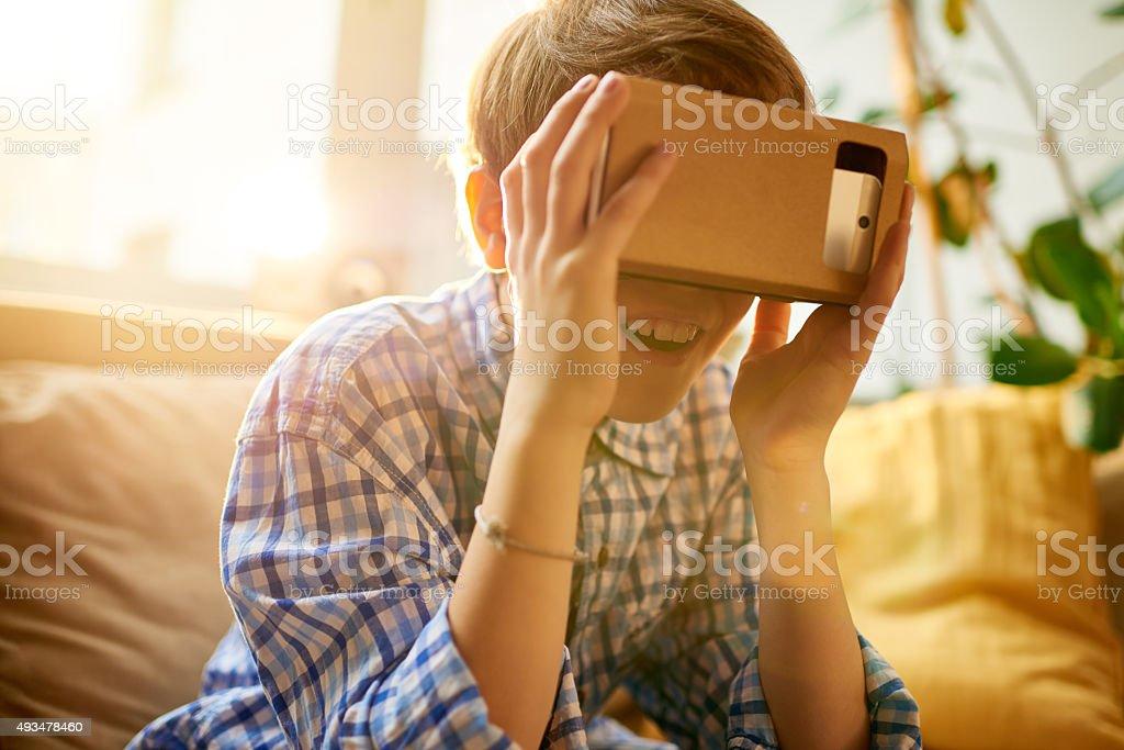 Virtual reality stock photo
