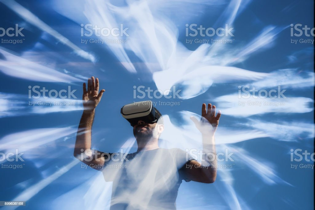 La realidad Virtual - foto de stock