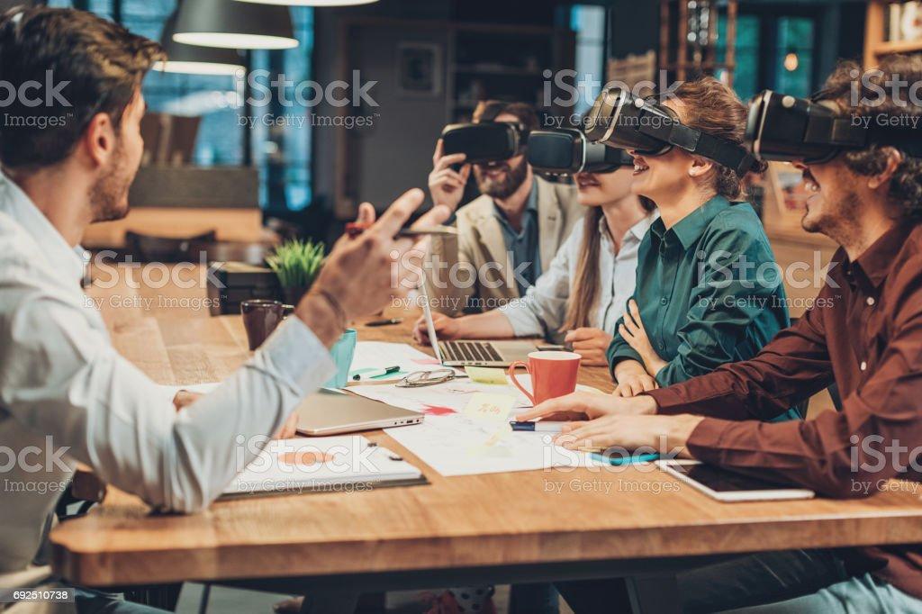 Virtual reality presentation stock photo