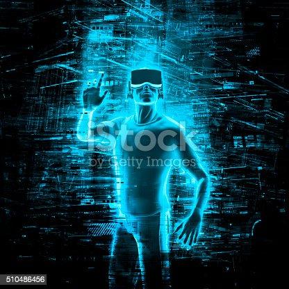 istock Virtual reality user 510486456