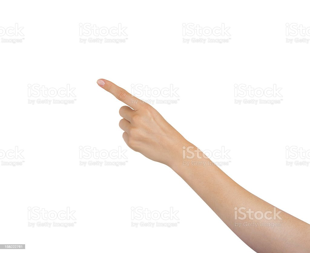 Virtual screen stock photo