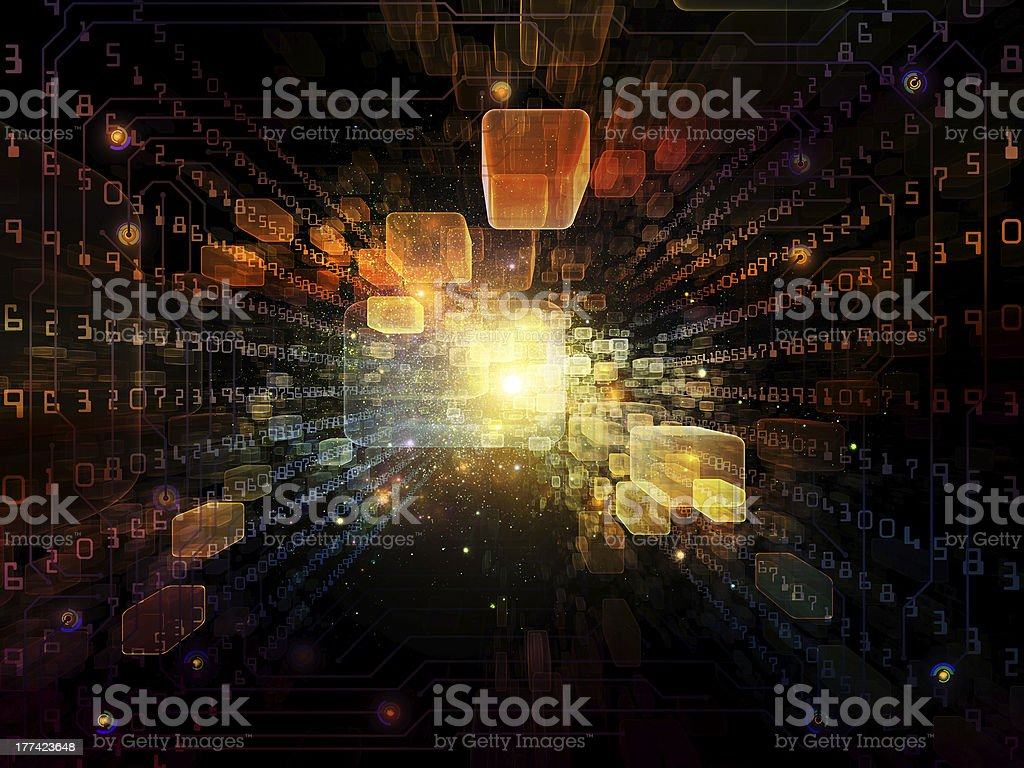 Virtual Space Composition royalty-free stock photo