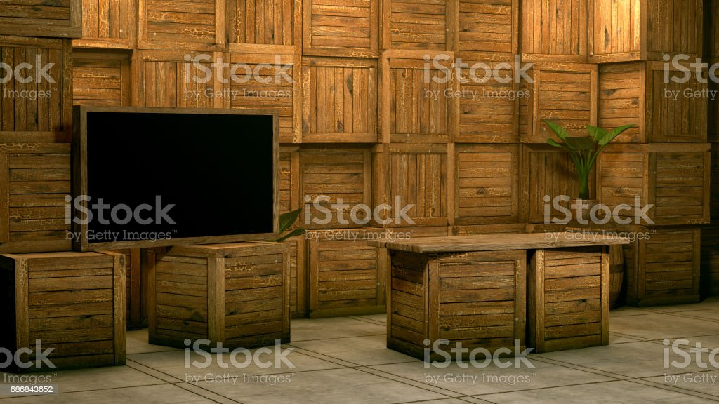 Virtual Studio. stock photo