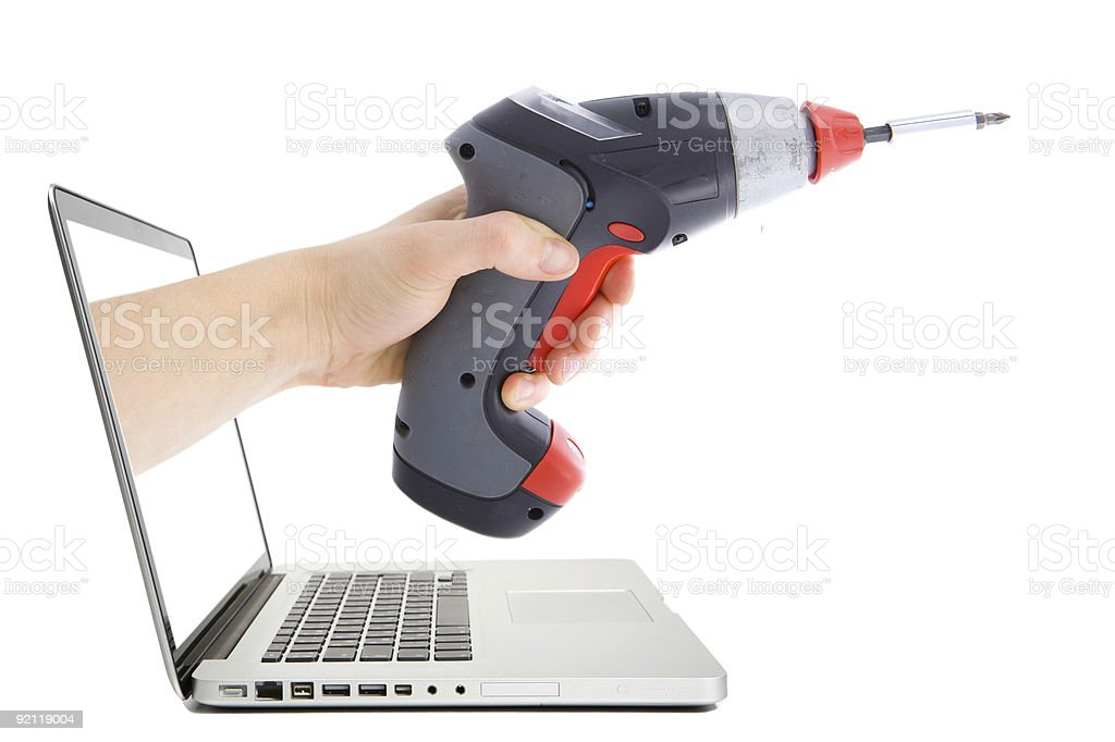 Virtual support. stock photo