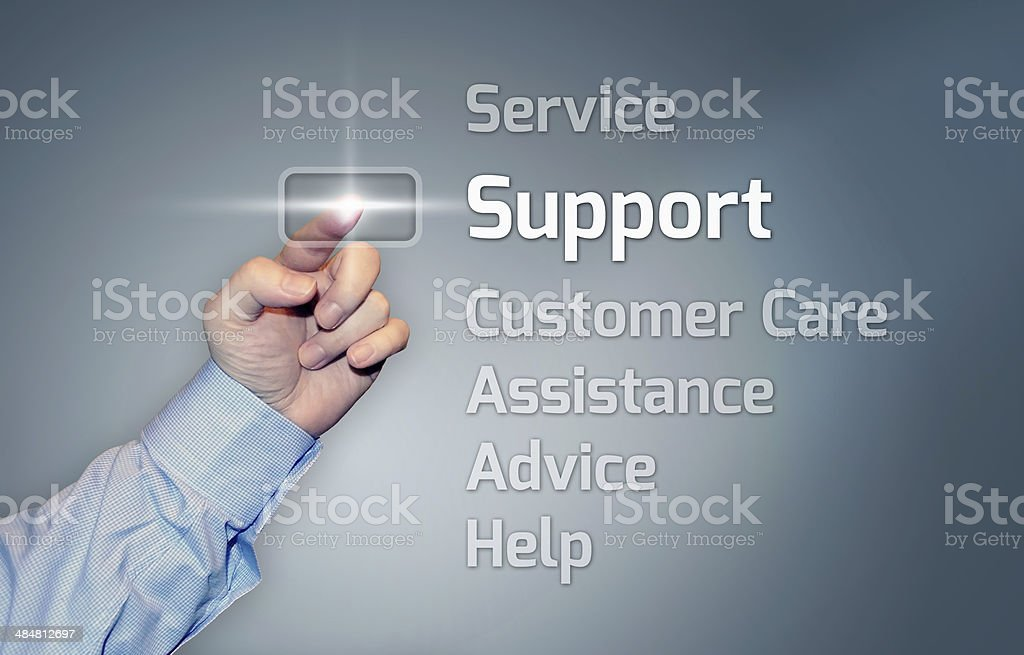 Virtual Touchscreen Support stock photo
