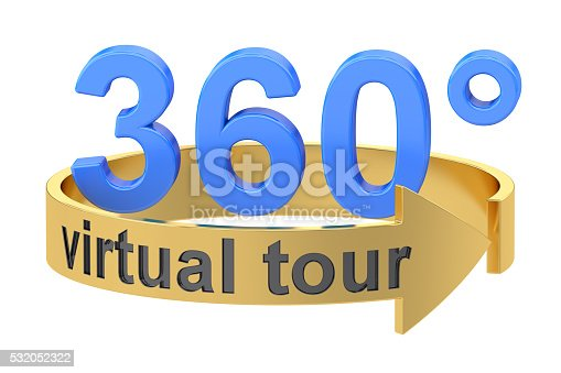 istock Virtual Tour, 360 degrees concept. 3D rendering 532052322
