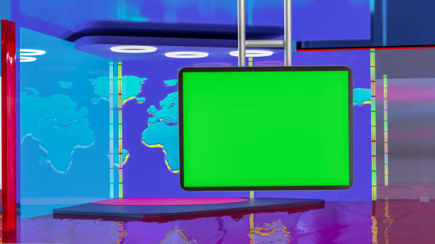 Best Background Of Virtual Sets For Green Screen Stock