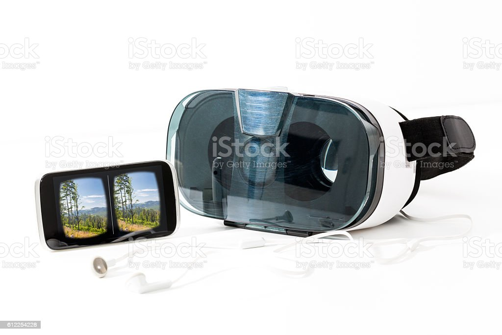 virtual vr glasses goggles headset concepts stock photo