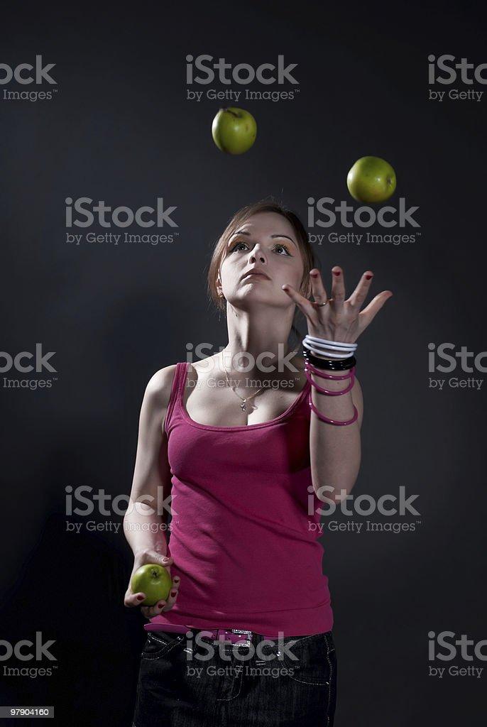 virtuoso juggle royalty-free stock photo