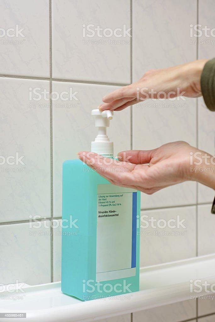 virucidal hand disinfectants stock photo