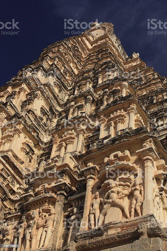 Virupaksha Hindu Temple in Hampi, Karnataka state, India. royalty-free stock photo