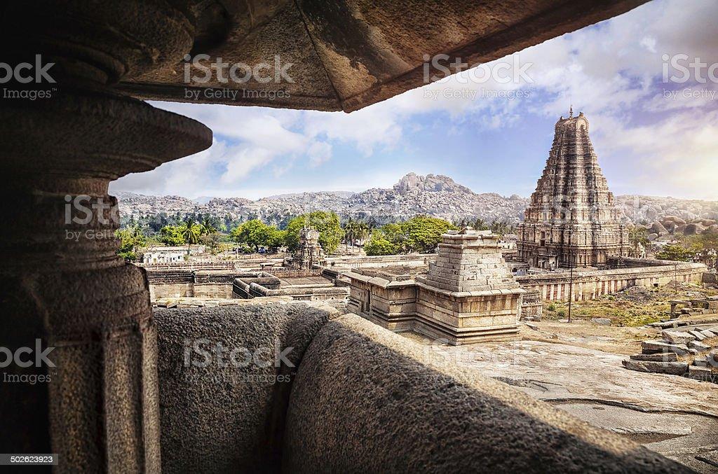 Virupaksha temple in Hampi stock photo