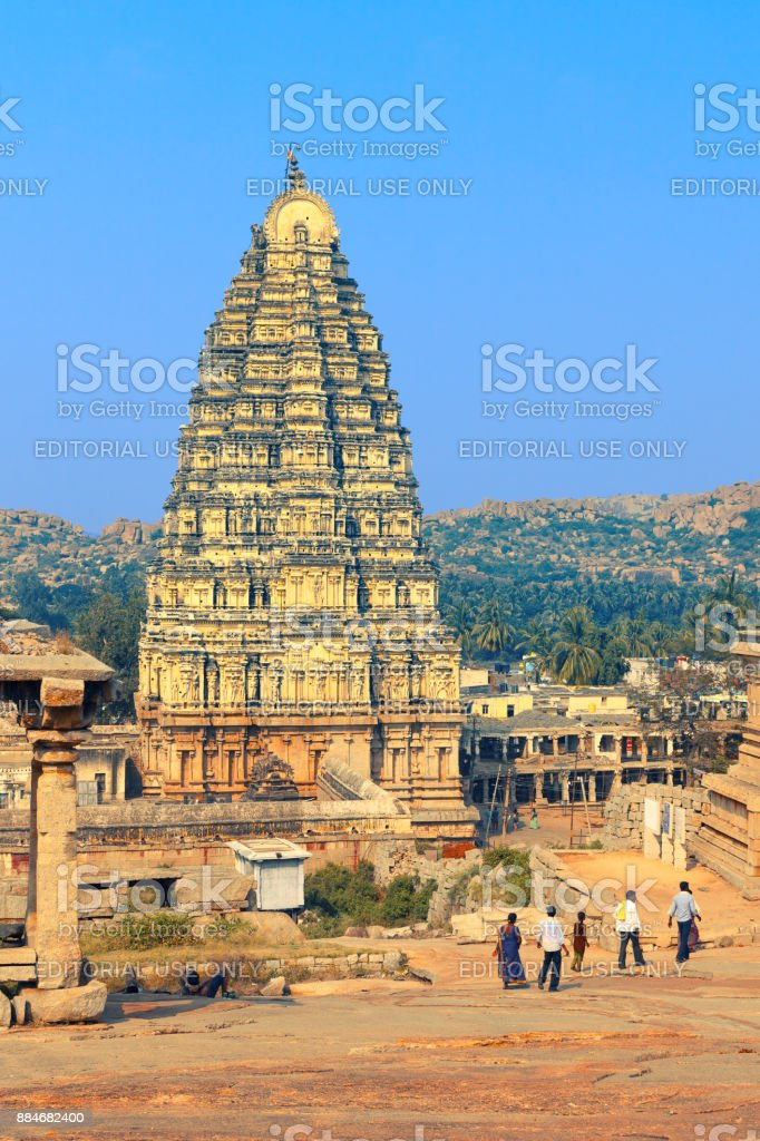 Virupaksha Temple in Hampi stock photo