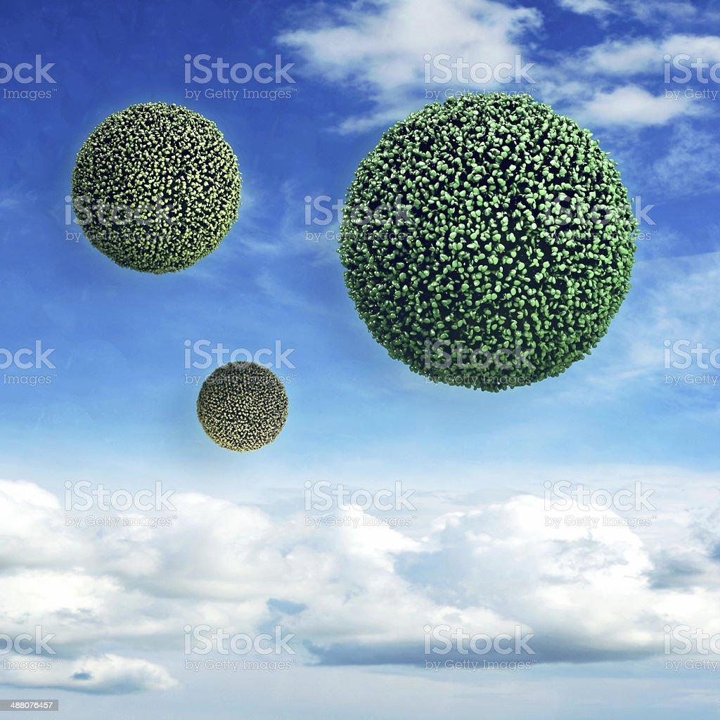 Virus - 3d rendered illustration stock photo