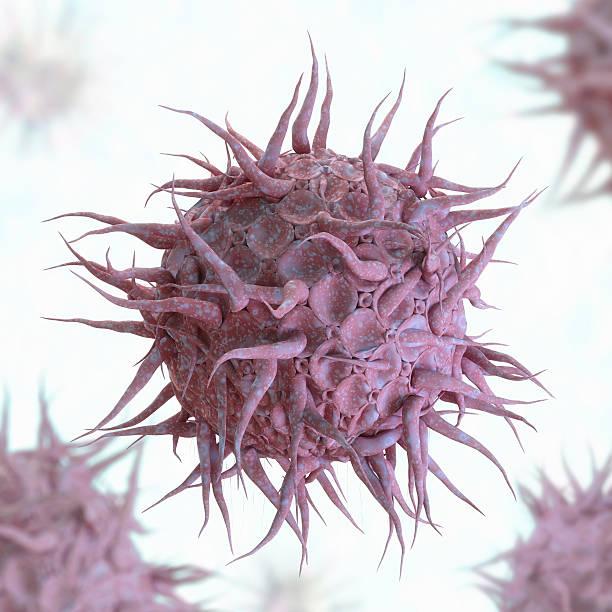 Virus abstract. stock photo