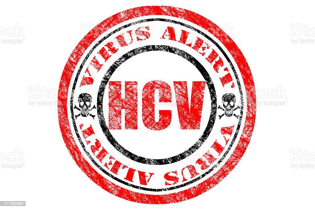 HCV Virus Alert Concept stock photo