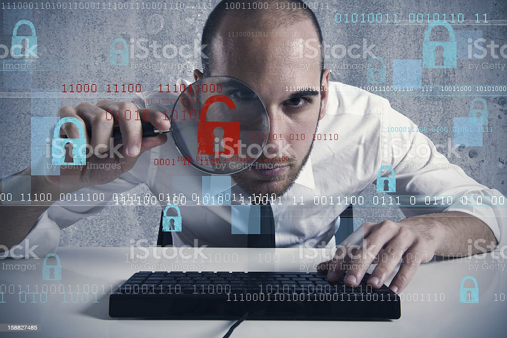 Virus and hacking concept royalty-free stock photo