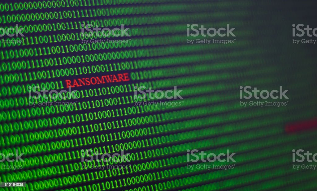 Virus Code In Computer Unsecured System Stock Photo & More