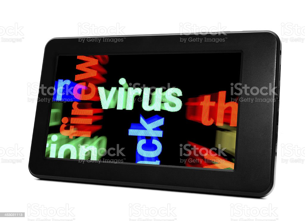 Virus concept stock photo