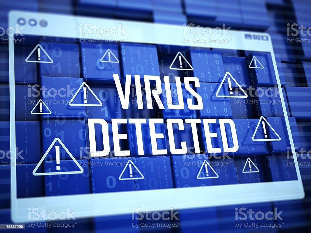 Virus Detected Concept stock photo