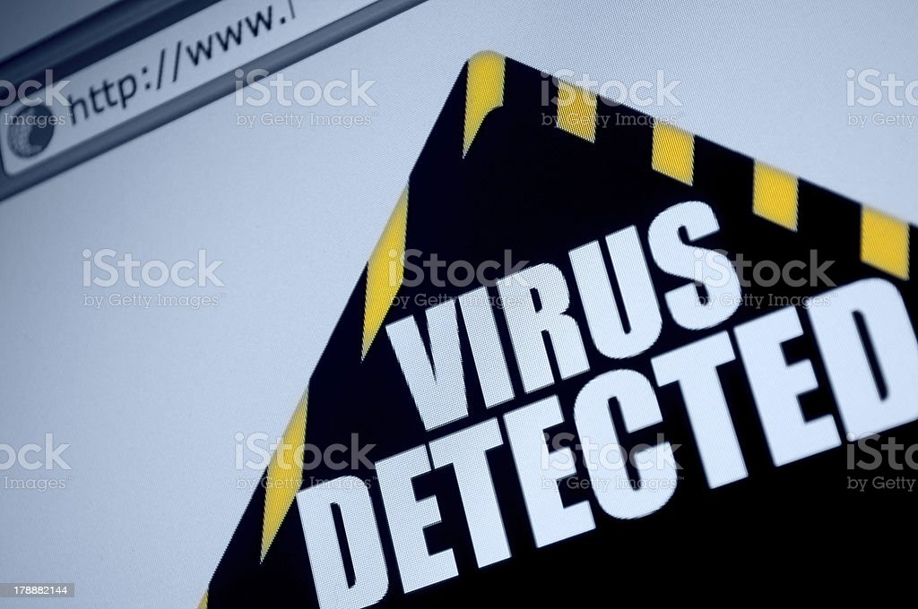 Virus Detected royalty-free stock photo