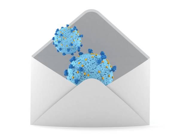 Virus inside envelope - foto stock