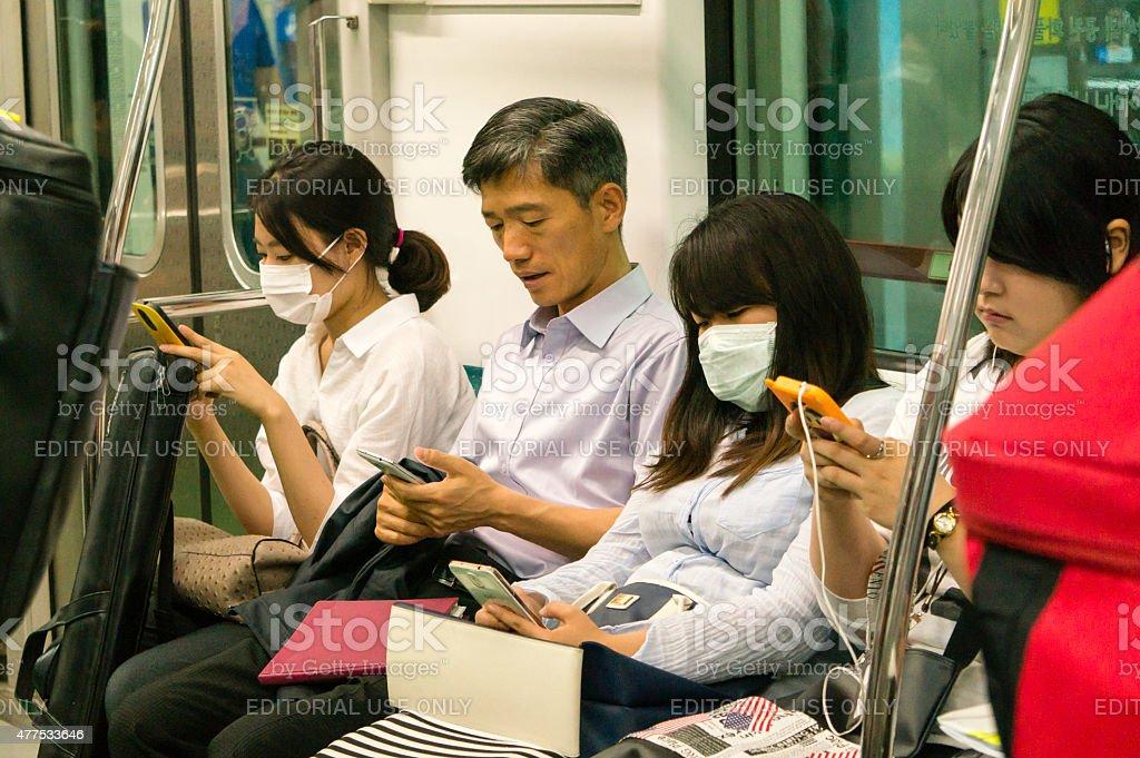 MERS virus outbreak in Korea stock photo