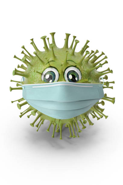 virus protects itself against flu protection with a mask virus protects itself against flu protection with a mask covid icon stock pictures, royalty-free photos & images