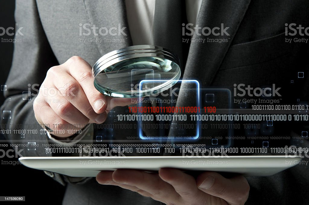 Virus search stock photo