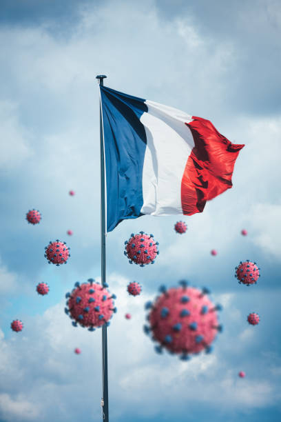 Virus spreading in France (Covid-19 concept). stock photo