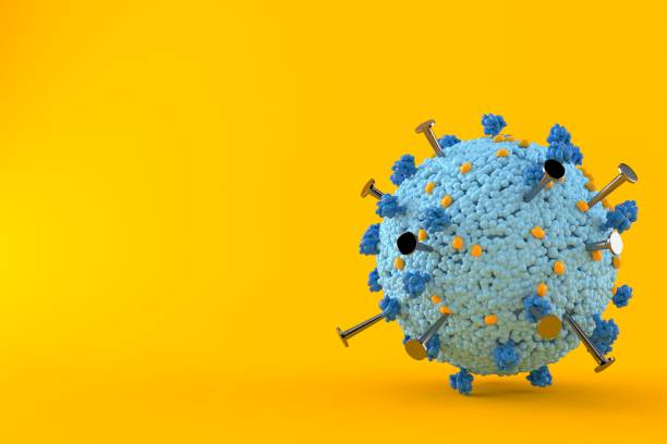 Virus with nails - foto stock