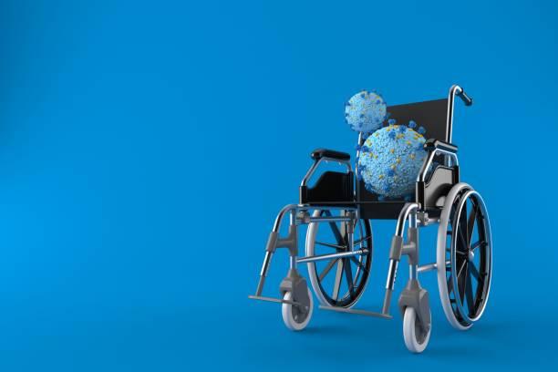 Virus mit Rollstuhl – Foto