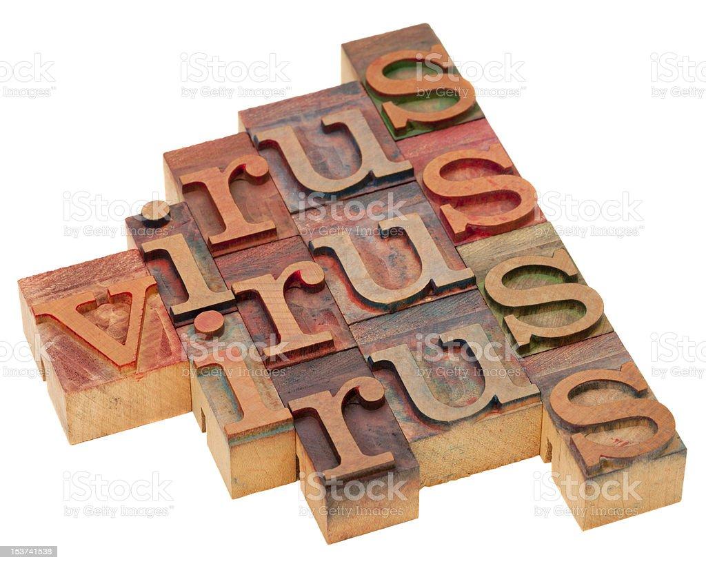 virus word abstract royalty-free stock photo