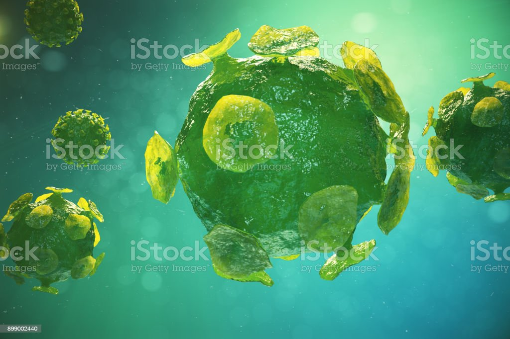 Viruses causing infectious disease, Global pandemic virus, 3d illustration stock photo