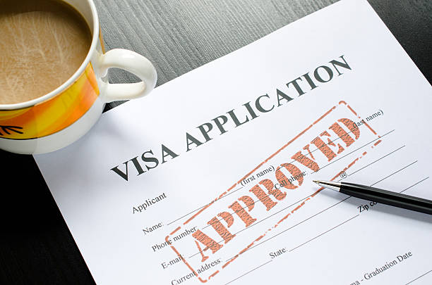 visa application - approved visa application - approved passport stamp stock pictures, royalty-free photos & images